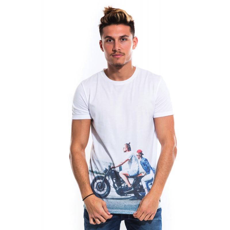 """T-Shirt Homme Imprimé """"Biker"""" - Waxx"""