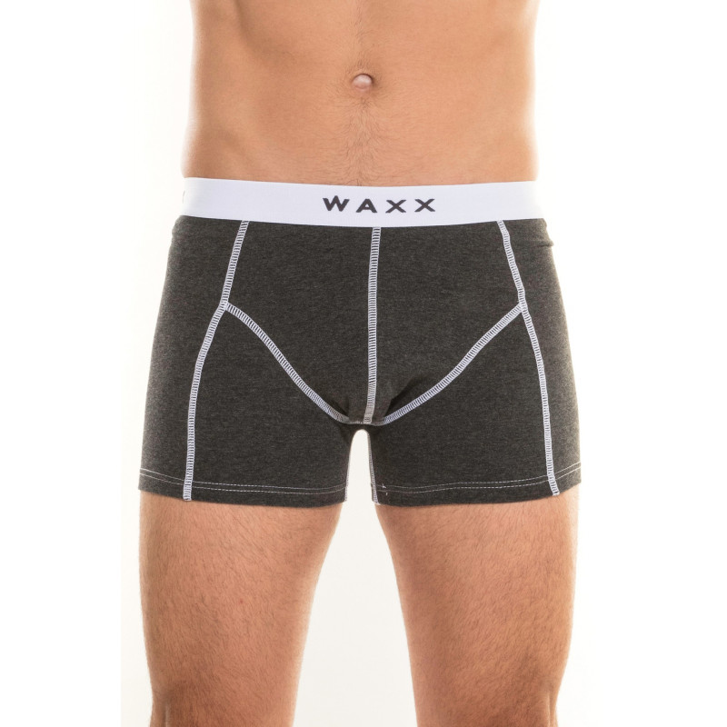 "Boxer Homme Coton ""Anthracite Chiné"" - Waxx"